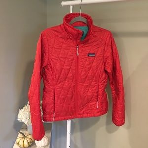 Patagonia Primaloft red quilted jacket